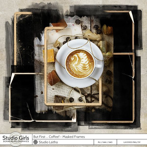 But First .. Coffee! -  Masked Frames