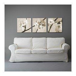 IKEA - PJÄTTERYD, Bilde, sett med 3, Motiv av Heather Johnston.Bildet har ekstra dybde og liv, fordi det er trykket på kvalitetslerret.Bildet står ut fra veggen på en attraktiv måte, fordi det fortsetter rundt kantene på blindrammen.