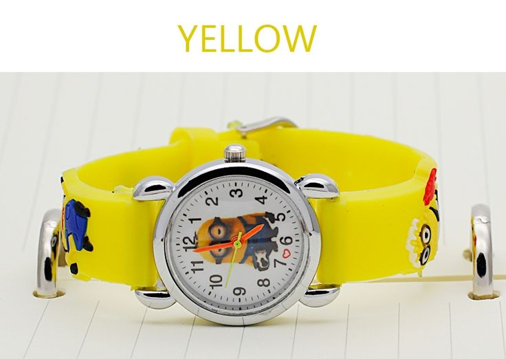 1.99$  Watch now - http://alihi3.shopchina.info/go.php?t=32776259838 - Cutely Cartoon Watches / For Children Kids Boys Girls despicable Me Minion watch Quartz Wristwatch + Relojes Mujer 1.99$ #magazineonline