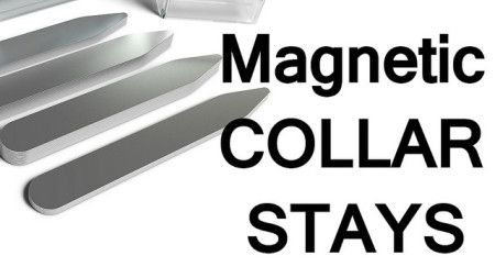 Magnetic Shirt Collar Stays | How to Keep Dress Shirt Collars in Place | Magnet Collar Stays