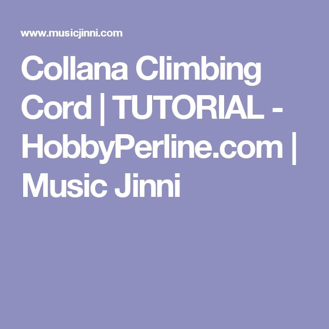 Collana Climbing Cord | TUTORIAL - HobbyPerline.com | Music Jinni