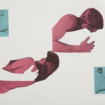 Love this collage by an unknown artist! #art #artist #collage #movieposter #locandina #cutout #iloveit #cool #coolhunting #pink #blue actors #amazing #youknowhowmuchilove by thegiorgiopesceshow