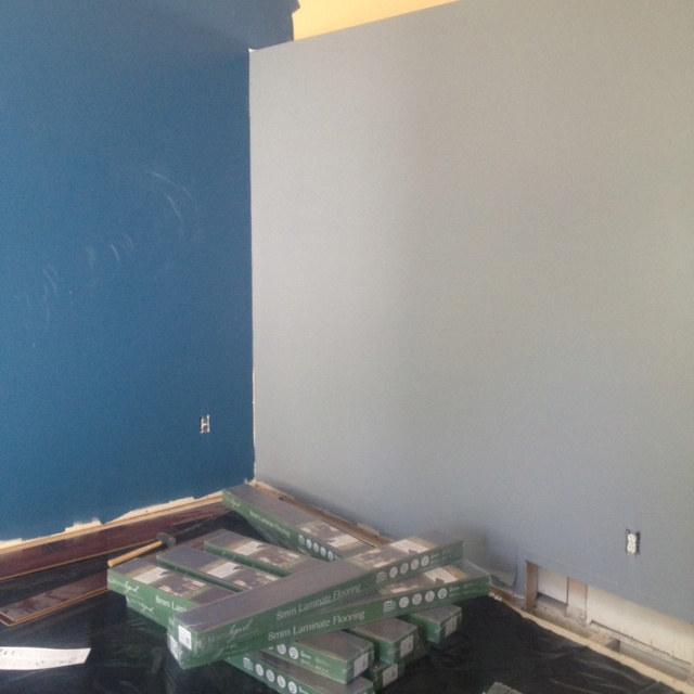 Walls painted: check.   Floors installed: ... ... ...