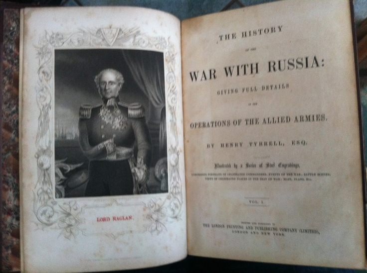 War with Russia c1870. Very large heavy tome filled with great illusrations and maps. Now sold.