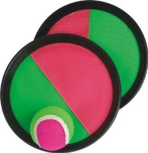 This velcro equipment could be a great way for students with disabilities to learn to not be afraid of catching the ball. Along with getting the general idea of catching a ball and where to out there hands. ect.