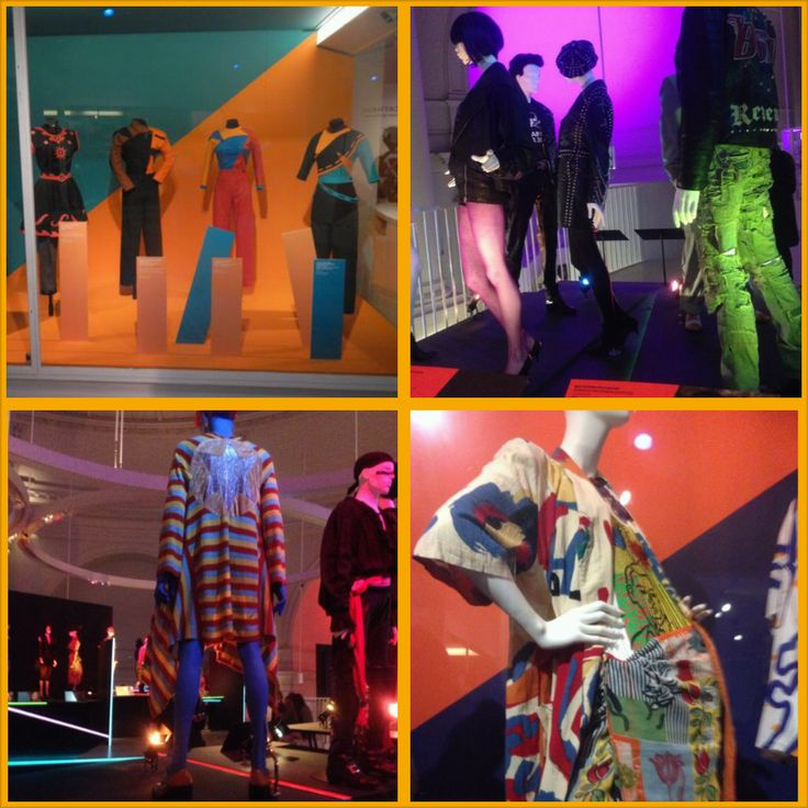 When considering the 1980s garments as a whole, it became apparent that there was a vast use of vibrant colours and bold patterns