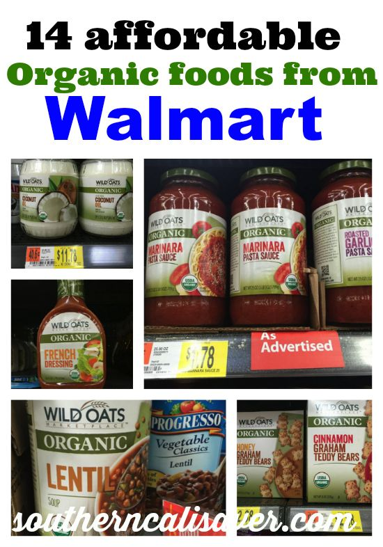organic foods from Walmart