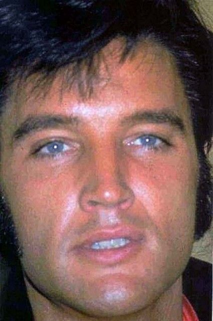 handsome Elvis He had the most amazing blue eyes.  When he looked at you, it was as if he were looking straight into your soul.