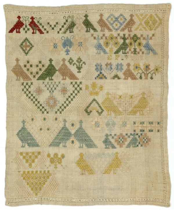 Merklap Maakster: Pitters, Iefke Vervaardigingsdatum: 1783 Afmeting: 35.0 x 29.0 cm Plaats vervaardiging: Wyns