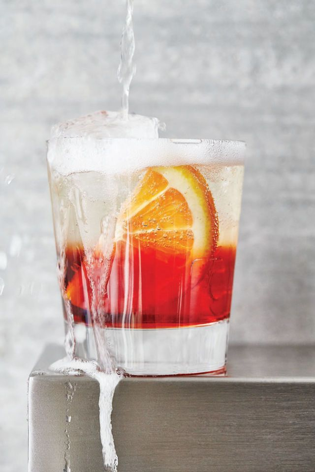 Here's How To Make Italy's Most Popular Cocktail NEGRONI SBAGLIATO Servings: 1 Ingredients 1 ounce Campari 1 ounce sweet vermouth 3 ounces Prosecco Build the ingredients in a rocks glass over ice.  Add an orange half-wheel as garnish.