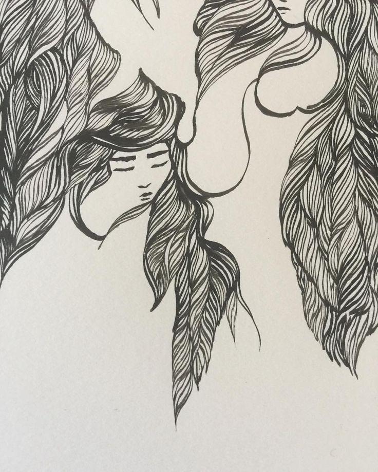 Ashya Lane-Spollen. WIP. Day 5's new faces. 3/3 #illustration #illustrator #art #artist #artlife #artblog #artblogger #ink #quill #blackandwhite #woman #women #hair #style #beauty #beautiful #girl #serenity #peace #dream #french #france #irish #ireland #vulnerable #sea #ocean #magic