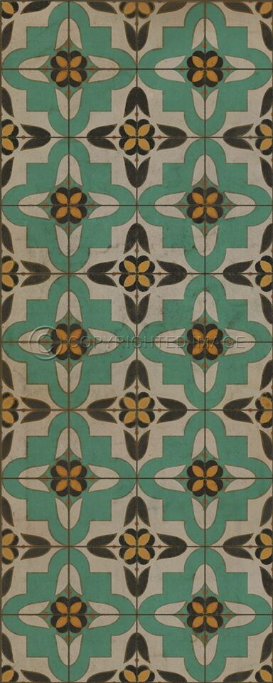 Pura Vida Home Decor - Pattern 33 Passpartou vinyl floor cloth, $50.00 (http://stores.puravidahomedecor.com/pattern-33-passpartou-vinyl-floor-cloth/)
