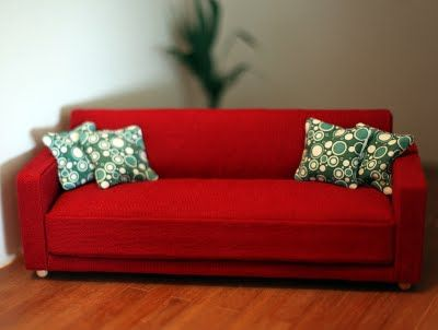 is sofa loading s checkered pillows itm with couch image miniature in green dollhouse