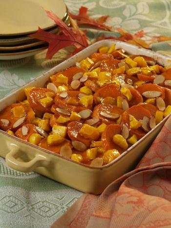 Mango Recipe - Side Dishes - Mango and Almond Yams