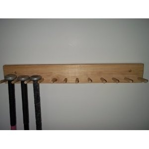 Natural Wood Large Baseball Bat Rack 6 11 Bats Holder Storage For Everyone Organization In 2018 Pinterest And Garage