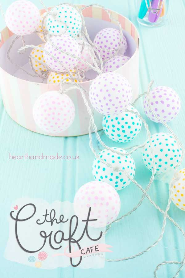 Ping Pong lights Craft Cafe Polka Dot Festoon Lighting Tutorial