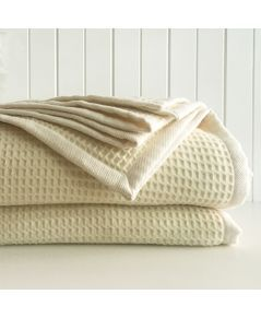 Marzotto Woolmark Waffle Wool Blanket                             less 20% DISCOUNT OFF MARKED PRICES