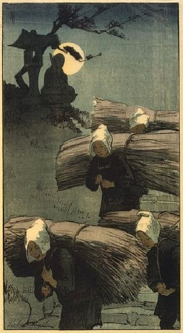 Etcher and Engraver Artist Helen Hyde (American: 1868 - 1919) - 'The Return', color woodcut, 1907
