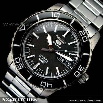 BUY Seiko Mens Automatic Hardlex Crystal All Black SNZH59J1 Japan - Buy Watches Online | SEIKO NZ Watches