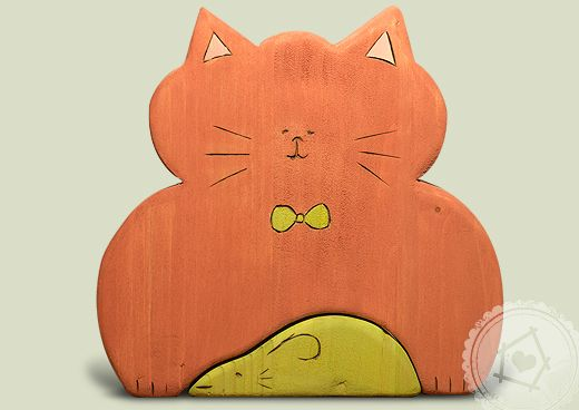 cat and mouse - wooden toys