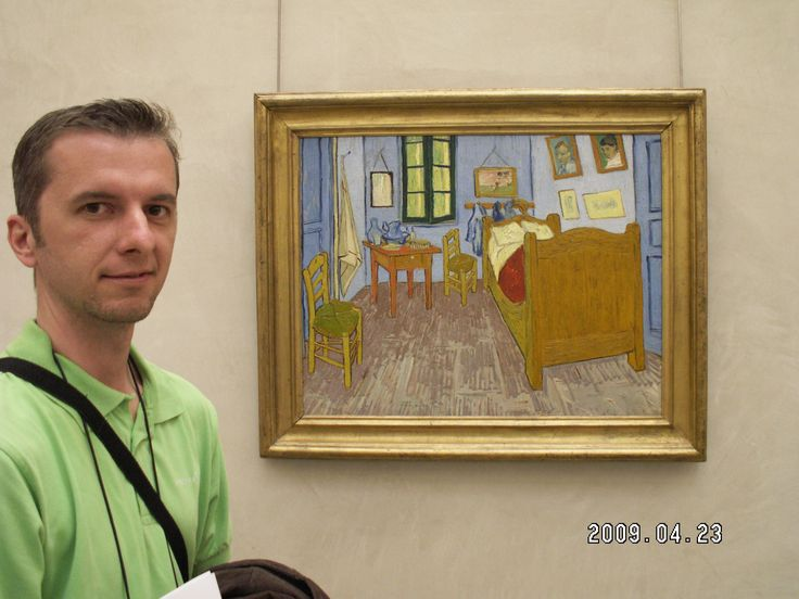 with Van Gogh at the Louvre.