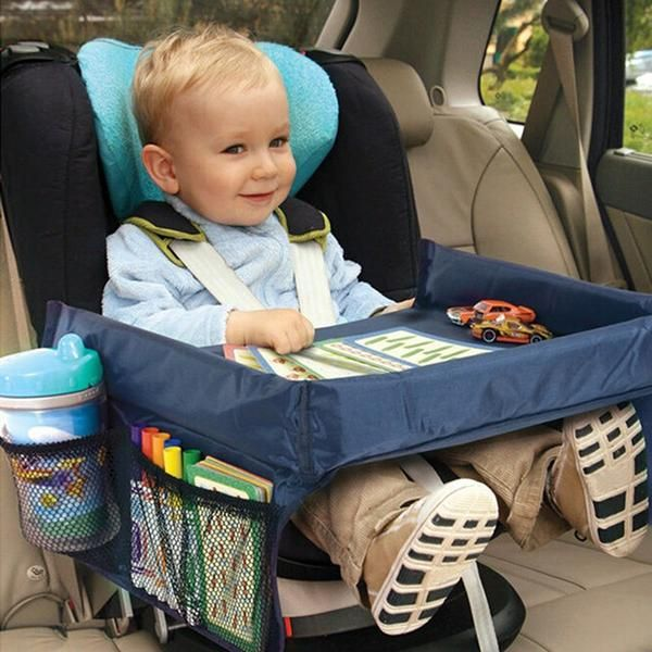 new kids on the go portable snack play tray folding booster seatbooster car