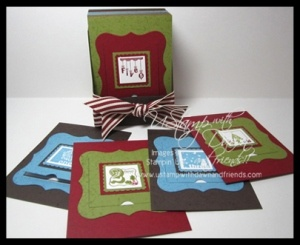 Counting Down to Christmas project - Stampin' Up! 25 & Counting stamp set and Peek-a-Boo Big Shot Die