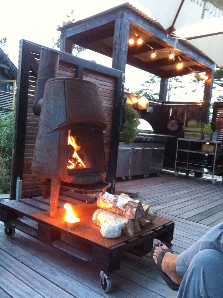 Barbecue and outside Mobile fireplace design 1:1 Rum&Design Copenhagen