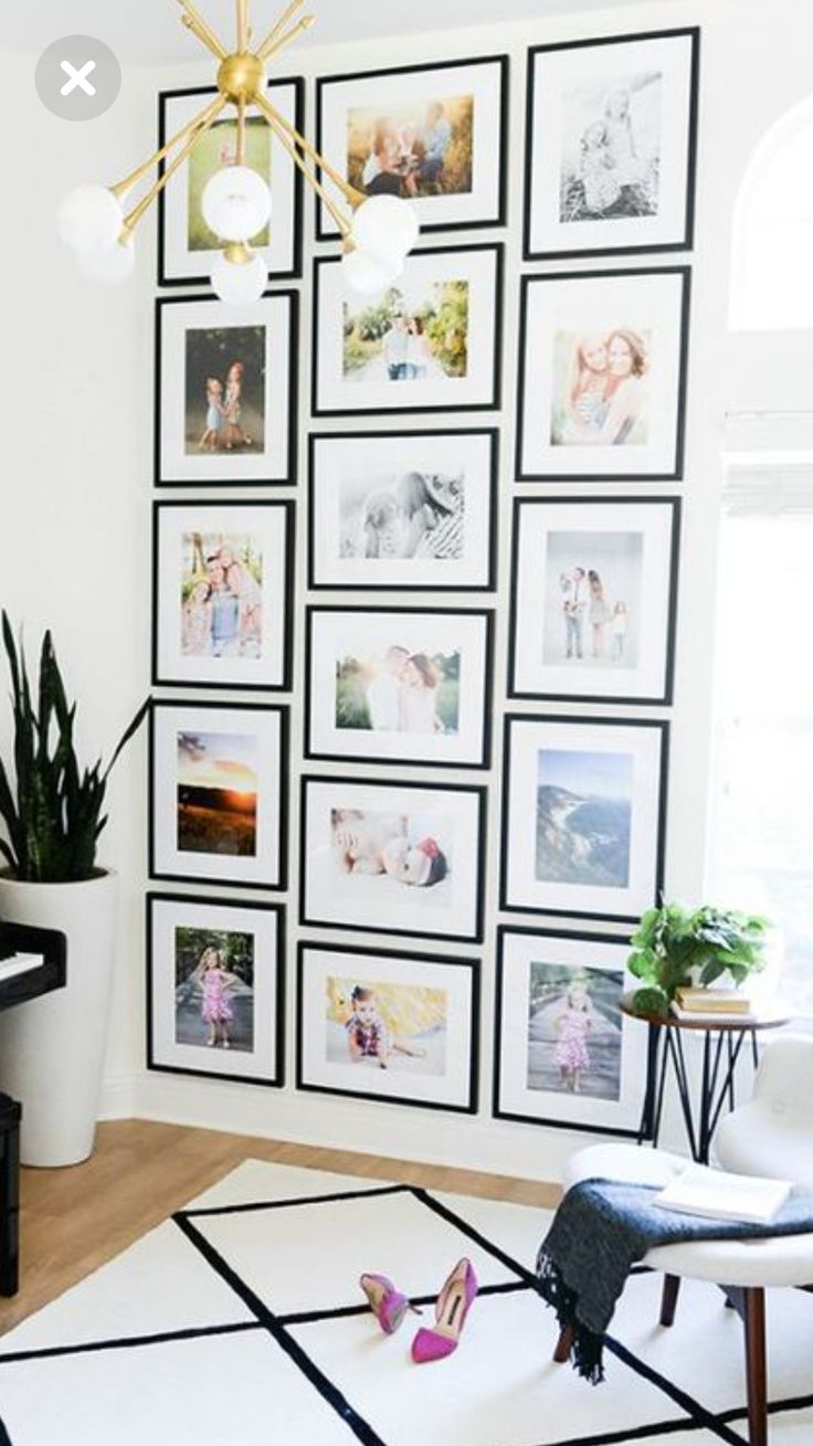 Floor to Ceiling Gallery Wall #pictureframes #gall…