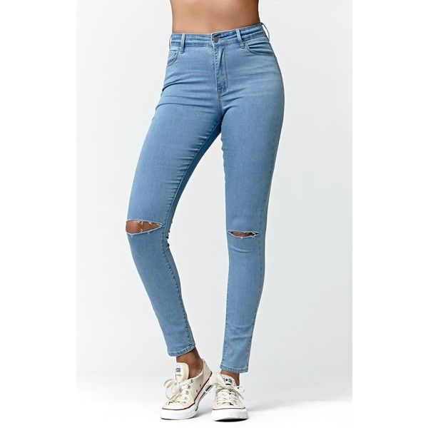 17 Best ideas about Blue Ripped Jeans on Pinterest | Ripped jeans ...
