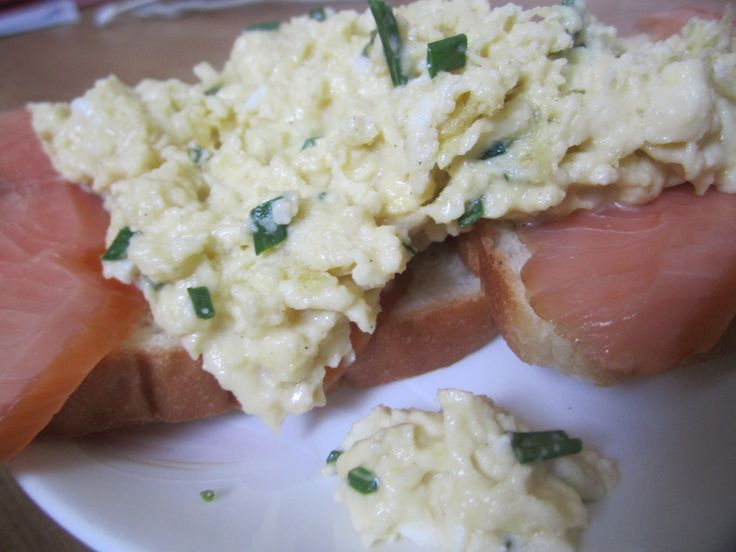 1. Creamy Scrambled Eggs with Smoked Salmon