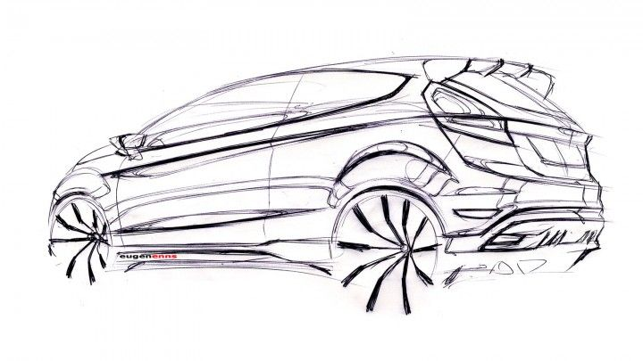 Ford Fiesta ST Concept Design Sketch.