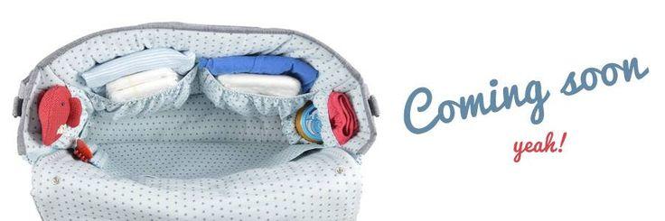 #sac#à#langer pour bébé bleu clair étoiles by Boo Poo www.boo-poo.fr