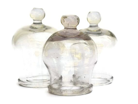 Antique Glass Cupping Jars.  Medical Curiosity by LeBonheurDuJour
