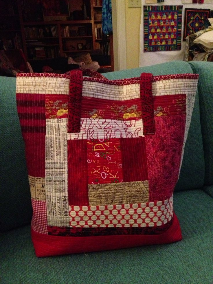 Looking for quilting project inspiration? Check out Quilt As You Go Tote -my own design, back by member jenkaa55. - via @Craftsy