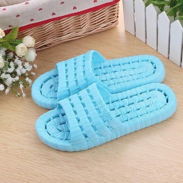 Plastic EVA Pure Color Open Toe Water Slip On Indoor Bathroom Flat Slippers
