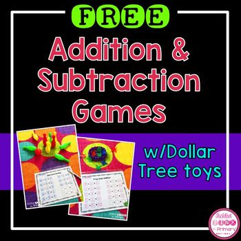 These addition and subtraction games have quickly become a student favorite at math centers! These addition and subtraction worksheets can be played with a bowling set and some of the plastic frog jumpers. I found both of these toys at The Dollar Tree.