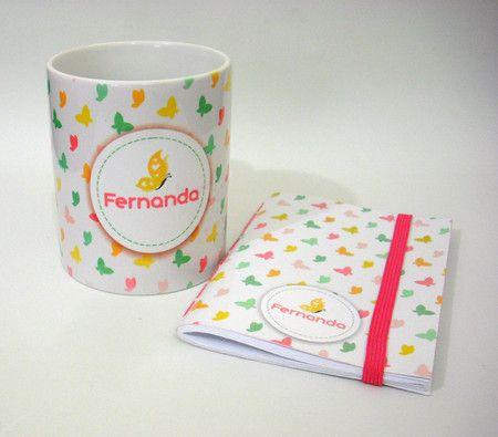 Kit Bloquinho + Caneca Personalizada - Ladybug Personalizados