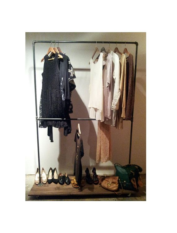 TWO LEVEL RACK  Large Industrial Clothing by pennylanewhitneyj, $285.00