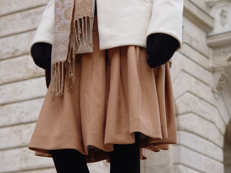 Composition in sepia #ILLANGO #coat #skirt