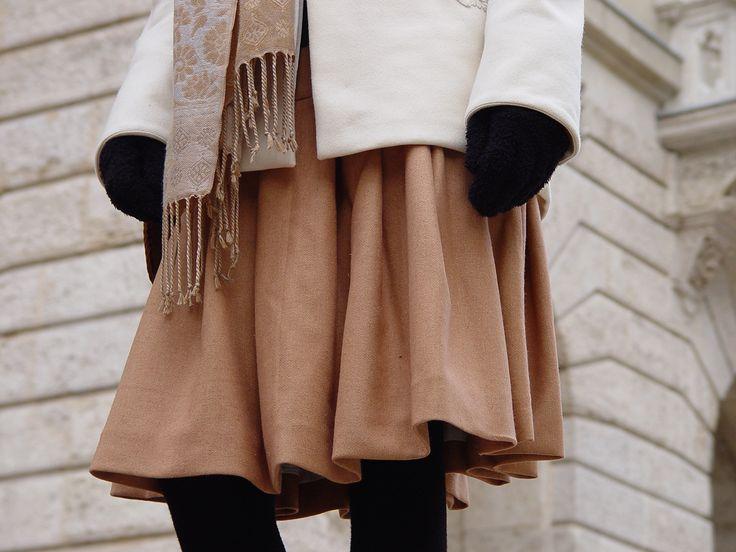 Composition in sepia #ILLANGO #coat #skirt