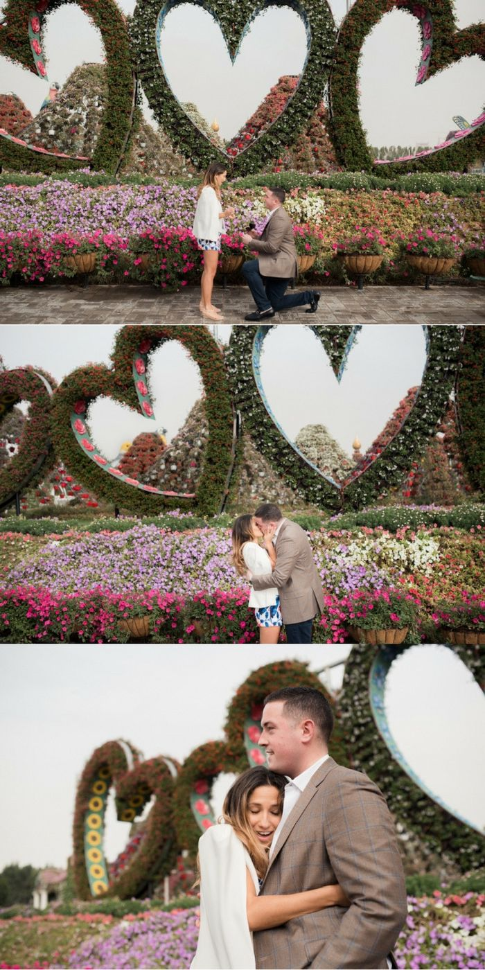 He proposed at the Miracle Garden in Dubai, and it's such an amazing story!