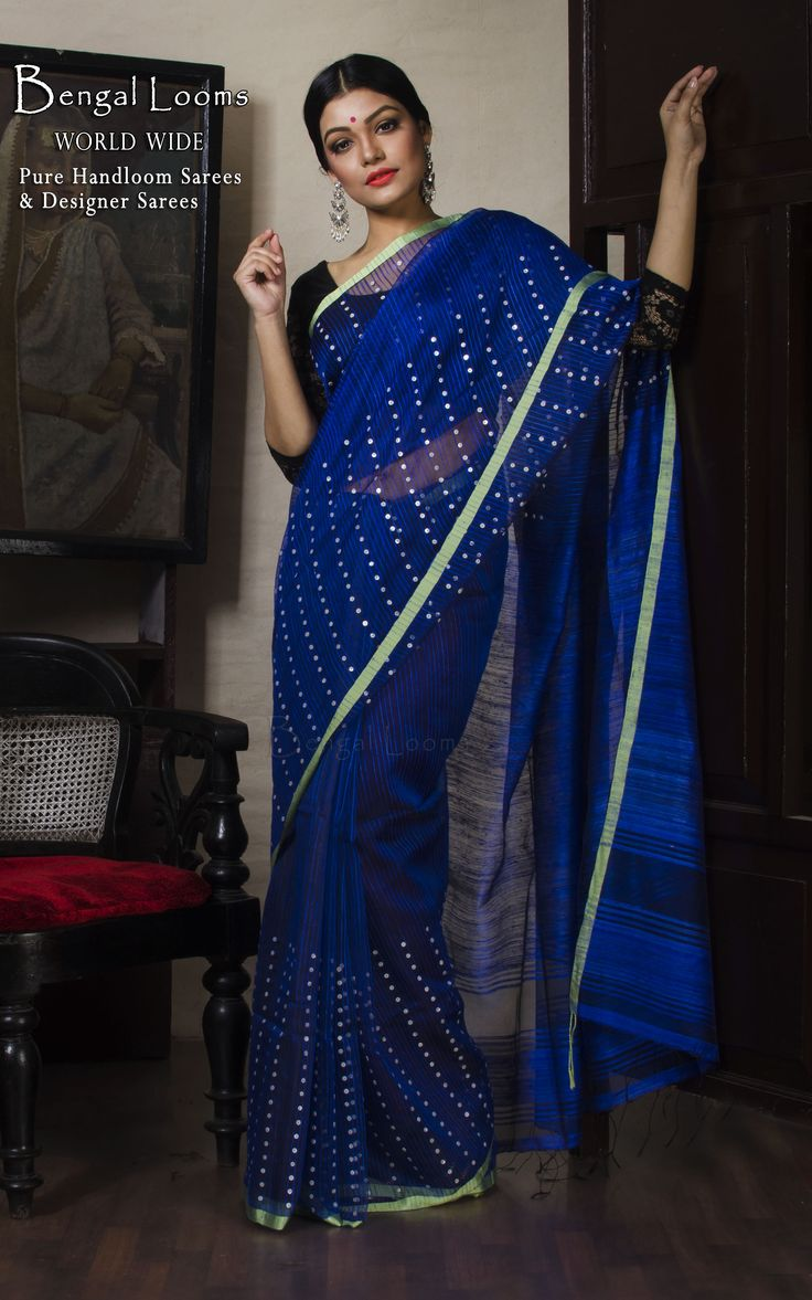 Khadi Resham Silk with Sequin Work