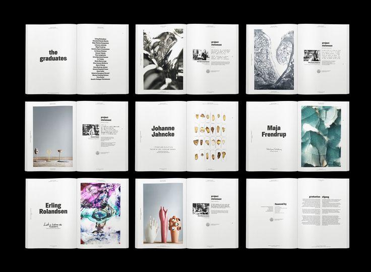 The Royal Danish Academy of Fine Arts catalogue concept & design by Paper Beat Rock #paperbeatrock #pbr #designbureau #copenhagen #KADK #catalogue #concept #graphic #design #glass #ceramics #silver #bubblewrap #materials #handwriting #typography