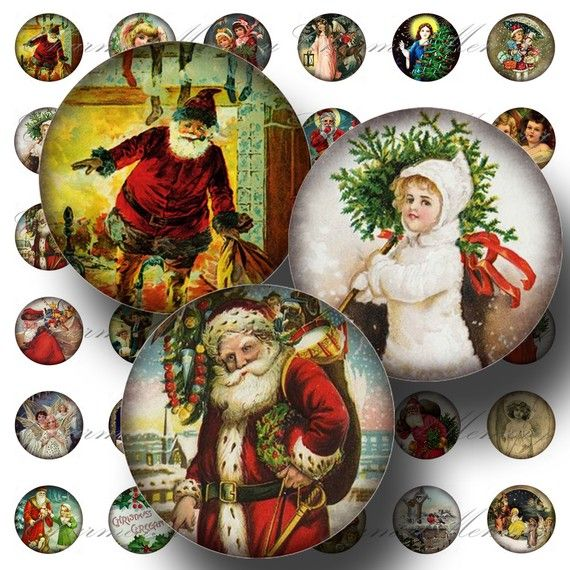 INSTANT Download  Aged Christmas Santa by CharmedMemoryCollage