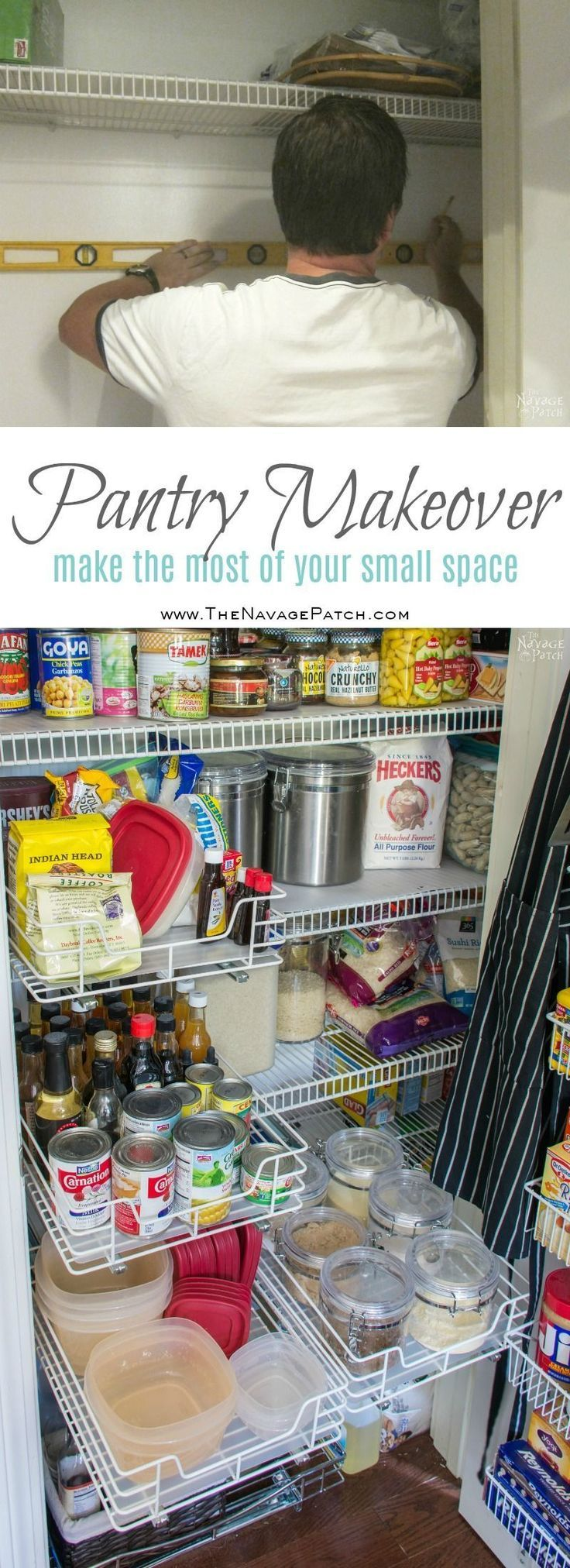 Pantry Makeover And Organization Ideas The Navage Patch Pantry Makeover Small Pantry Organization Diy Pantry