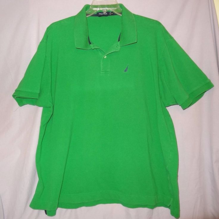 Nautica Polo Shirt Green Size 3X  XXXL Short Sleeve  #Nautica #PoloRugby