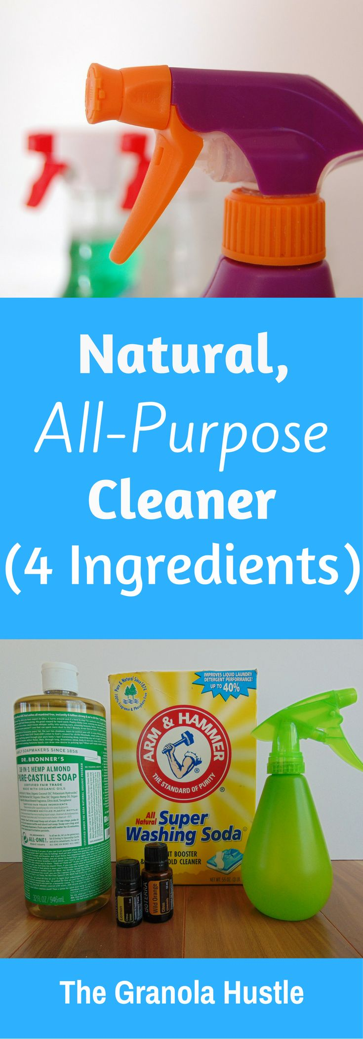 This all purpose cleaner recipe is easy to make and very effective. You make this with only 3 ingredients!