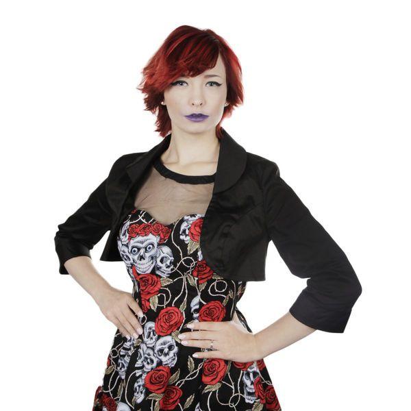 Heart & Roses -Plain Black Bolero | Cybershop
