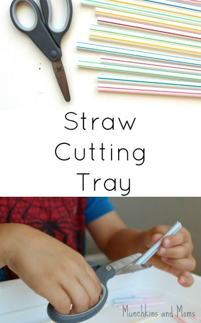 "Practicing scissor skills is anything but boring when you introduce this cutting tray! With each snip comes a surprise little ""pop"" at the end!"